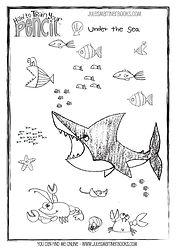 Sea free printable colouring sheet