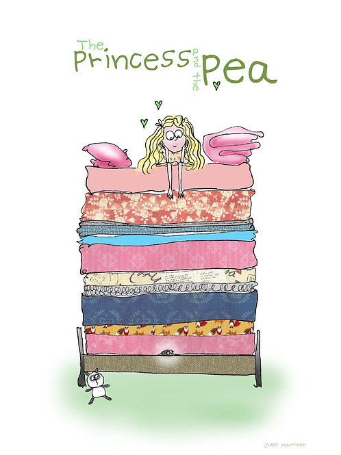 Princess and the Pea Greeting Card A5