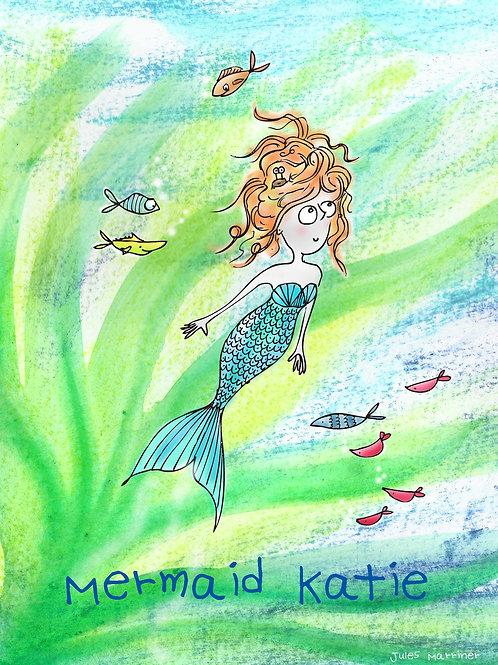 Customisable Mermaid print