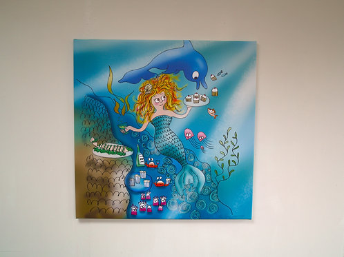 Mermaid Party LARGE CANVAS