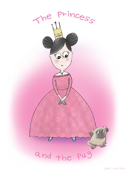 Princess and the Pug print