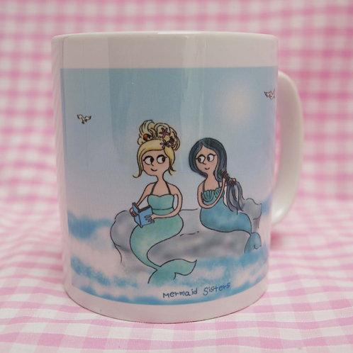 Mermaid sisters mug, tea cup or coffee mug.