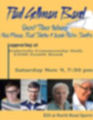 Paul Gellman Band Community Hall Nov 9 2