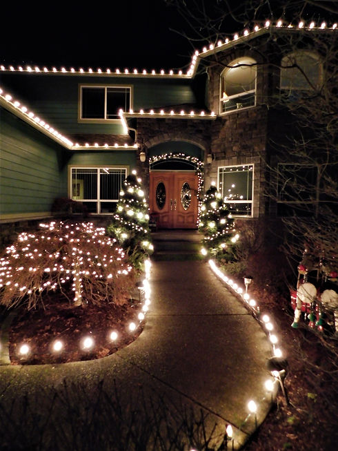 Christmas Light Front Entrance