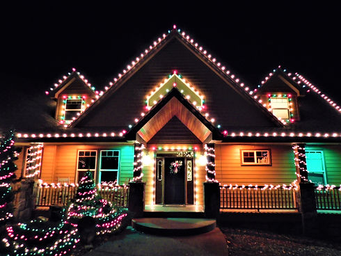 Beautiful Christmas Light Entrance- Installed by Uptown Lights
