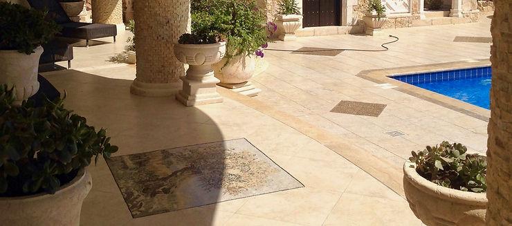 Патио с мозайкой и сирийским камнем Кипр