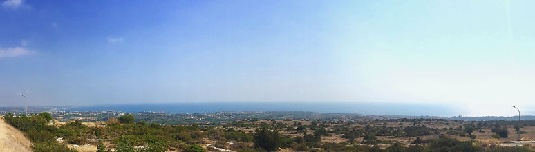 Plot in Peyia for sale, panoramic sea view