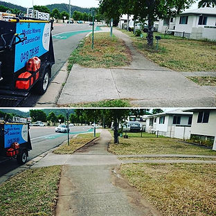 mystic mowing services in townsville reclaiming te footparth
