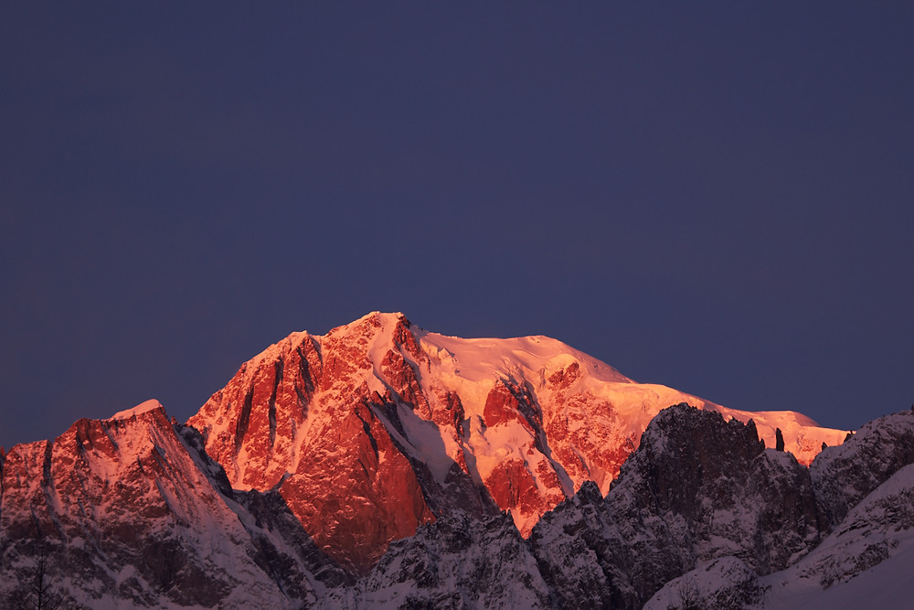 Morning view to Mont Blanc (4748m)