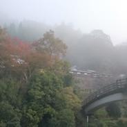 秋の朝 城址公園