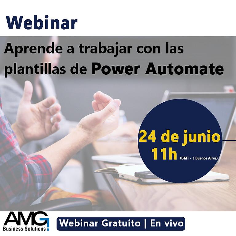 Webinar Aprende a trabajar con las plantillas de Power Automate