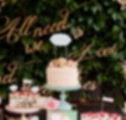 Mostra de taula dolça per casaments