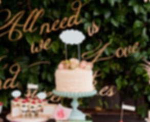 Anschnitt der Hochzeitstort auf der Hochzeitsmesse in Fulda