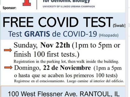 Free COVID Testing this SUNDAY!