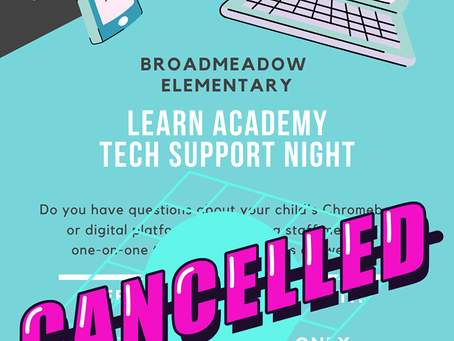 Remote Learning Tech Night has been cancelled