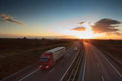highway-traffic-motion-blurred-truck-on-