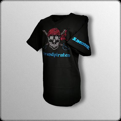 """T-Shirt mit Glitzersteinen """"Strandpirat"""""""