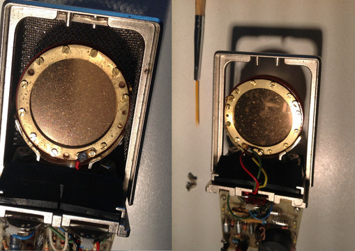 AKG 414 after cleaning-repair