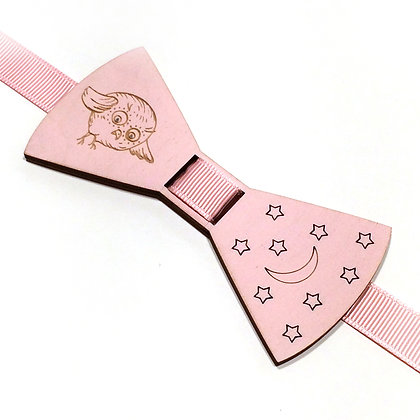 Бабочка детская Совушка розовая.