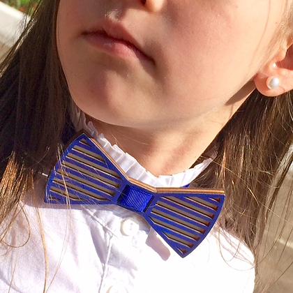 Бабочка детская Полоски. Синяя