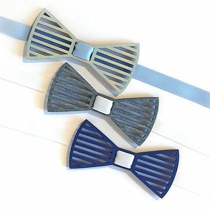 Бабочка детская Полоски. Сине-голубые