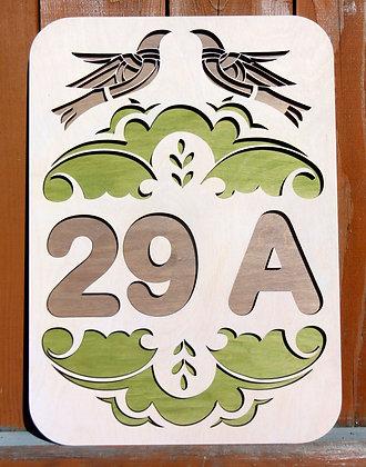 "Табличка с номером дома ""Birds"""