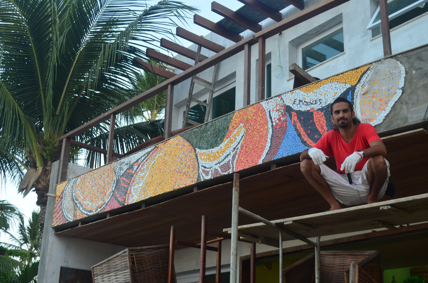 Mosaico Frontis Bahia Tambor