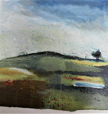 Chalk Upland 2021 75x75cms acrylic on paper SOLD