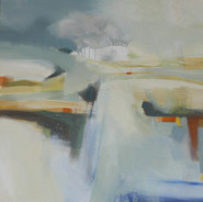 A Cotswold Summer 1, acrylic on canvas, 100cms x 100 cms  SOLD