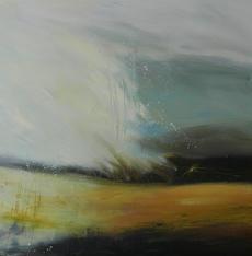 Looking West, 76x76cms, Acrylic on Canvas, framed £850