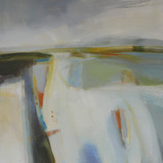 A Cotswold Summer  3, acrylic on canvas, 100cms x 100 cms