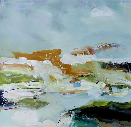 Peat and Moss acrylic on paper 68x69cms