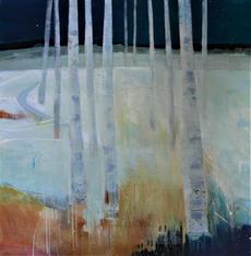Tread Softly, 100x100cms acrylic on canvas framed £1200