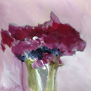 Peonies, acrylic/mixed media on paper  50x50cms