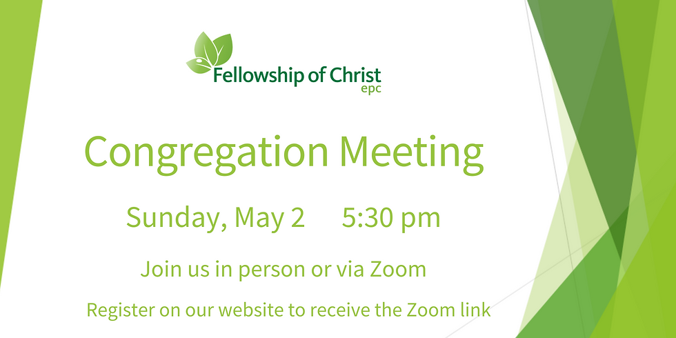 Congregation Meeting - Joining on Zoom