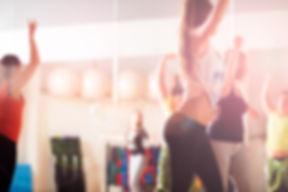 A classe de dança moderna