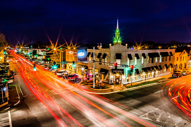 Southwick Images | Downtown Lawrenceville at Night