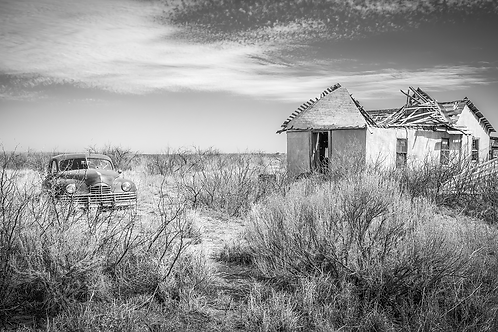 "Forever Parked and Forgotten - 16""x30"" Print On Aluminum - Limited Edition"