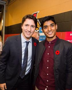 Alex and PM Trudeau