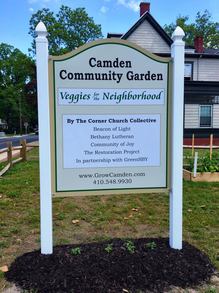 Prettified garden sign
