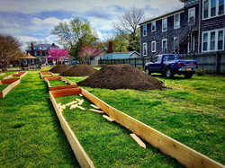Prepping the beds to receive dirt