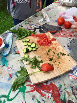 Learning to make bruschetta