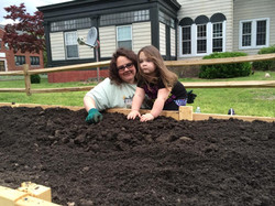 Busting dirt clumps with mom