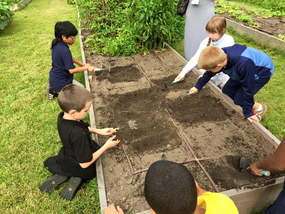 Pinehurst students planting.jpg