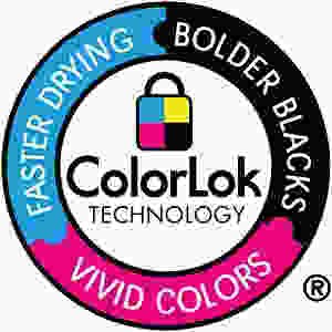 Standardized print testing is conducted with ColorLok® paper Technology.