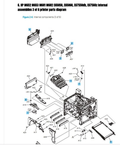HP Laser Printer Diagrams Now Available Online With Extensive Part Number And Item Descriptions