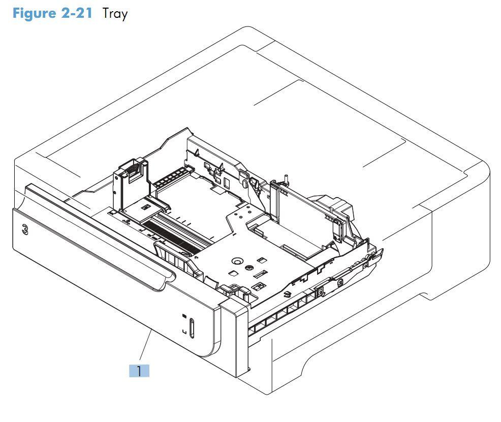 19. HP M575 Paper Tray printer parts diagram