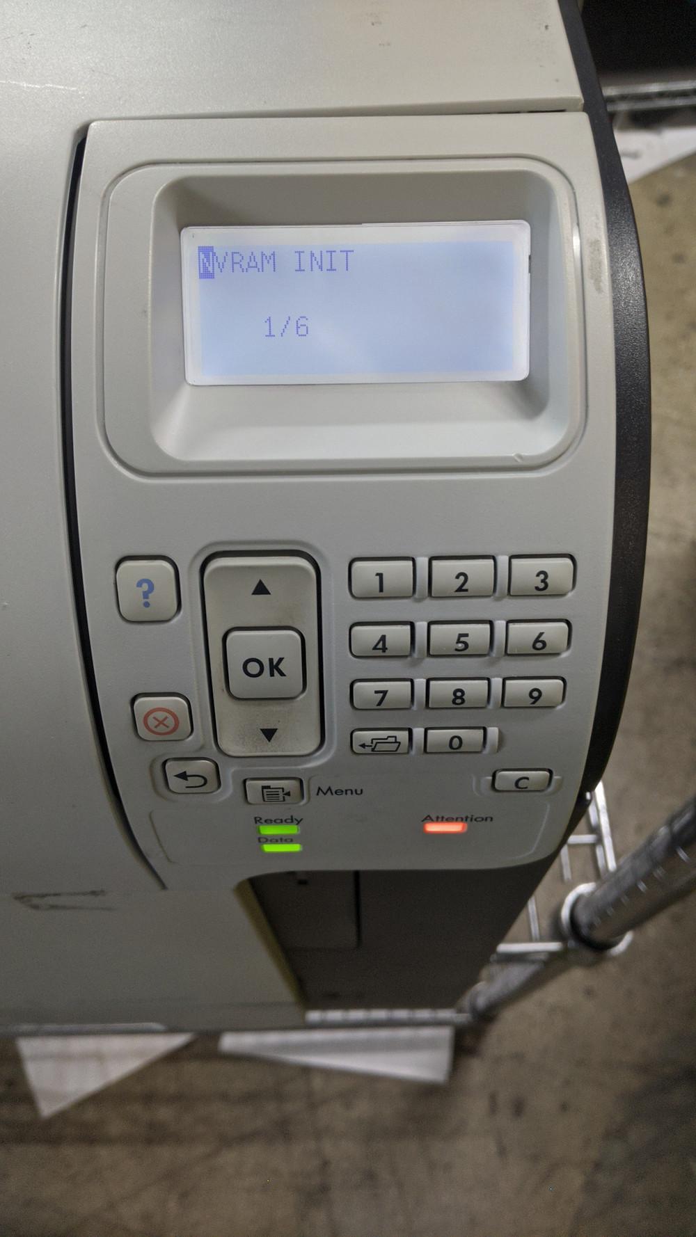 NVRAM Reset For HP Laser Printers