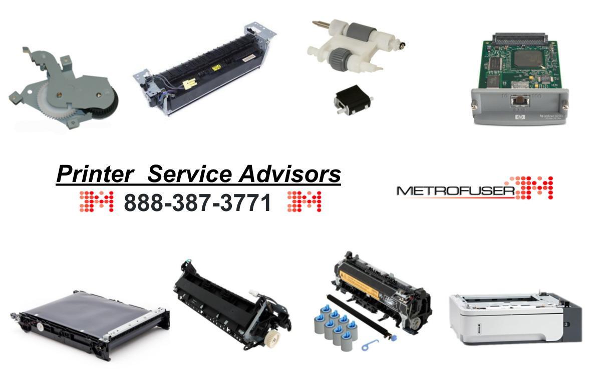 HP Printer Parts, Printer Fusers from Metrofuser Elizabeth