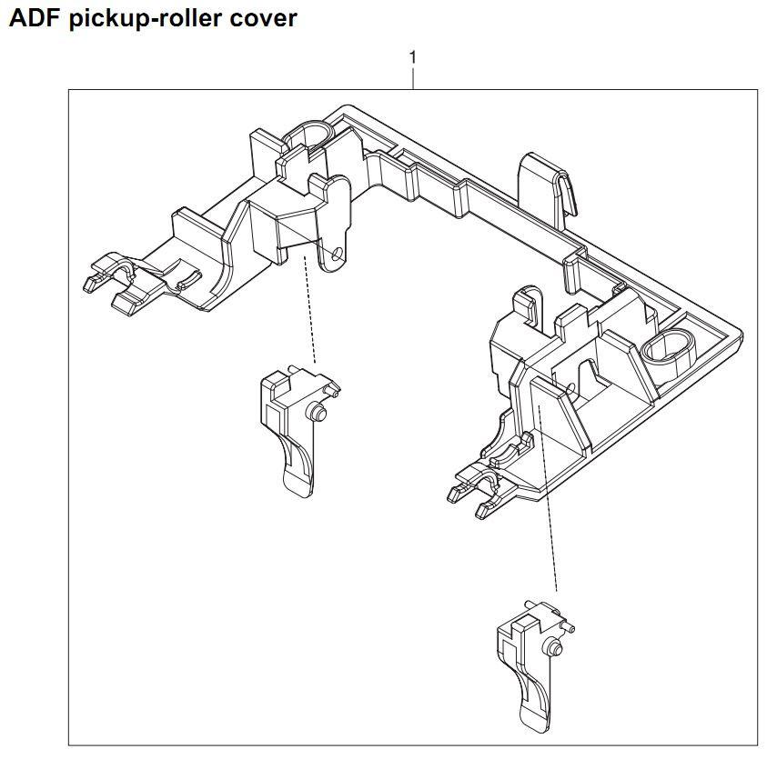 33. HP 4345 Q3942A 4345x Q3943A 4345xs Q3944A 4345xm Q3945A ADF pickup roller cover Printer Part Diagrams